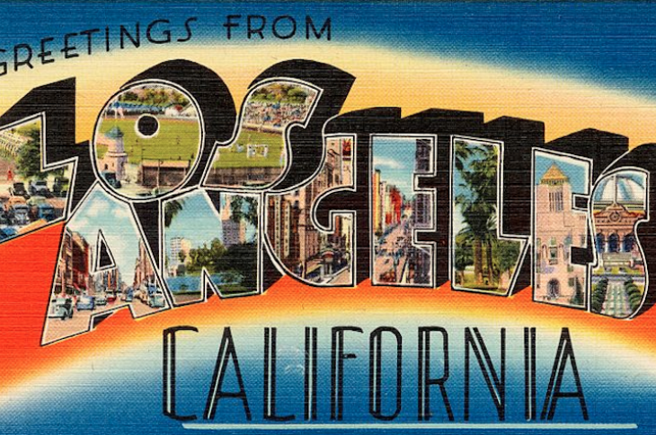 California homes expensive-welcome to Los Angeles California postcard-photo Public domain