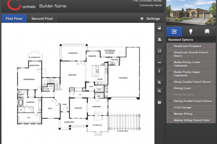 Building software professional builder for Interactive floor plan software