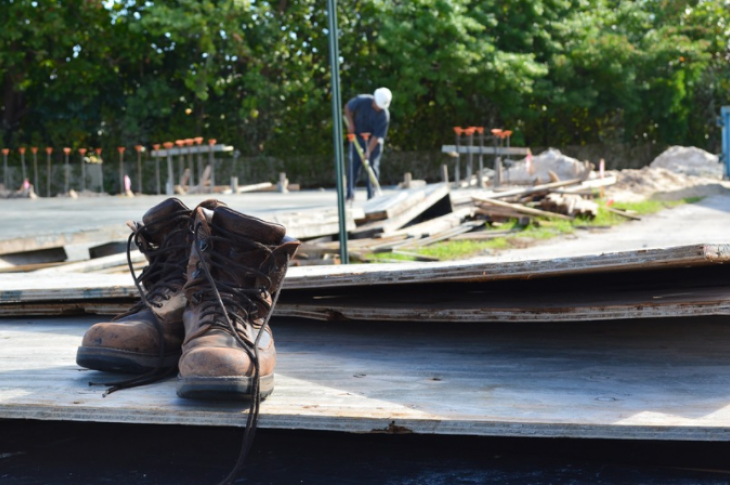 boots on construction jobsite-labor shortage-photo