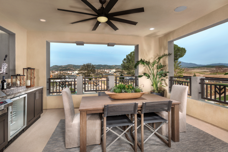 TRI Pointe-Carlisle at Parasol Park-roof deck in Irving Gill style