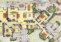 Part of the Somervell luxury house plan from Larry W. Garnett, FAIBD