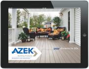 Screenshot of the Azek iPad app at work.