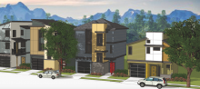 From KGA Studio Architects, these Millennial-targeted starter homes are part of an infill project in Utah.
