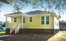 One of the 10 homes constructed as part of Project Home Again in New Orleans.