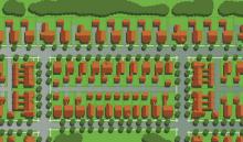 Plan view of housing development