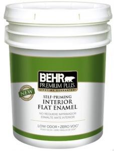 BEHR Premium Plus self-priming zero VOC interior paint