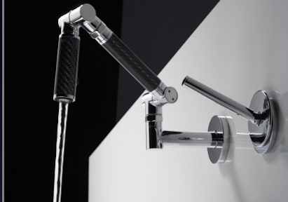 The Karbon lavatory faucets allow the user to position the spout right where the