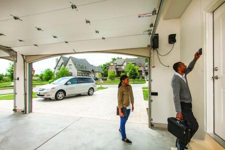 The new american home 2016 garage door opener for American garage builders