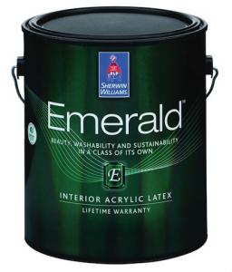 Emerald Interior and Exterior paints from Sherwin-Williams are durable and self-