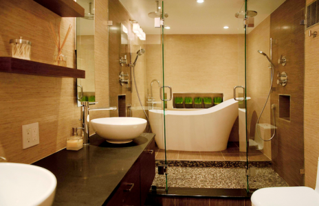5 bathroom design trends for 2013 pro builder for Latest trends in master bathrooms
