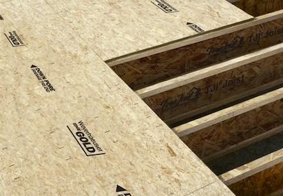 Weyerhaeuser Edge Gold flooring panels